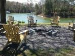 Firepit area seating for 10