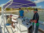 Guest pick-up at BajaMar dock for a snorkelling trip