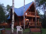 Seaside Real Log Cottage Rental