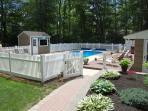 Pool house with full size fridge!
