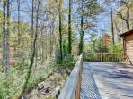 Enjoy beautiful views of the 'Holler' from the spacious deck