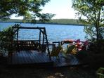 View of deck and dock from the house