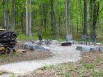 Fire Pit in the Woods
