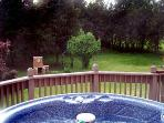 hot tub view cedar breeze beck deck