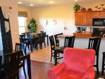 Large dining room area for up to 20 people! 2 dining sets together or separate.
