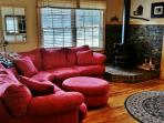 Plenty of comfortable seating for everyone in this cozy living area