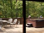 Hot tub and entertainment deck