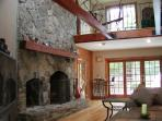 Great Room With Vaulted Ceiling & 2nd Floor loft leading to Balcony & Deck