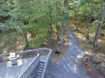 View of the Walkway to the stream and  the rear deck