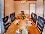 Enjoy your meals around this elegant dining area
