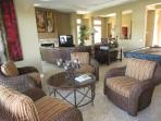 Great Room with Sitting area with golf course view!