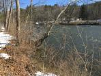 Our property and the Housatonic, at a favorite trout fishing part of the river