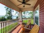 You'll love the spacious deck overlooking Bayou Grande.