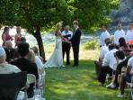 Wedding held on property by the river.