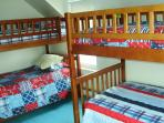 Bedroom 3 , View 1 - 2 sets of bunks  (4 twin mattresses)