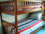 Bedroom 3 - one set of bunks close up
