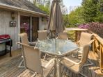 You'll love spending downtime on this breezy deck.