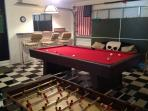 Garage Games Room showing Pool Table, Bar/Stools, Table Football & Table Tennis