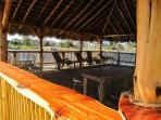 Palapa has water views on 3 sides & can host up to 50 people for special events.