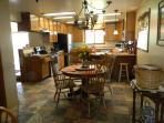 full kitchen, seats 10