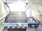 Brand New 4 Burner Grill with Propane on Site