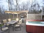 Nicest Deck including a Grill, Hot Tub, Patio with Firepit below!
