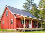 See terrific seasonal colors from the hill at this Mayville vacation rental cabin!