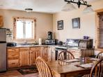 You'll feel like you're cooking in your own home while in the cabin's fully equipped kitchen!