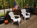 Front deck with grill and picnic table