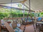Tropical Patio - Relax and listen to the ocean across the street.