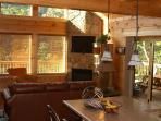 Living Room & Main Deck from Island Bar