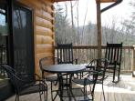 Master Bedroom Deck in Winter with Mountain View
