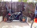 2 adult bikes for hire with infants seats - 30 euro per wk
