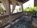 ALOHA Large Lanai with Bali Hi View.  lounge & bar area