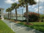Two Tennis Courts and Shuffle Board