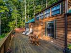 Enjoy the huge 12-by-45-foot deck with a 7 person hot tub