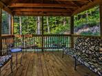 Roomy screened-in porch is perfect for reading, relaxing and talking
