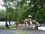 Community pool and playground