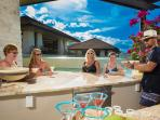 Swim up bar - an ideal location for an afternoon margarita or rum punch.