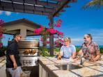 Outdoor kitchen - the ultimate in shared dining experience.