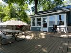 Back deck - great for grillin'!