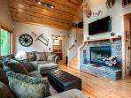 Sit around a nice fire or watch a movie in the comfy living room