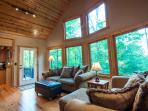 The windows and view make this cabin incredible