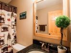 Main Level Full Bathroom with tub/shower