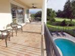 Full length balcony with golf views