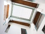 The 'halka' - a traditional open atrium over the courtyard