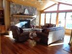 Fireplace, stereo system, big screen TV., amazing view of the lake!