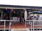 Gnarly Gar;floating restaurant/bar;live music;feed the huge catfish!