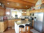 Fully equipped kitchen perfect for larger groups to prepare great meals.