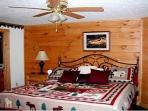 Bedroom on main level - King size bed with adjoining full bath